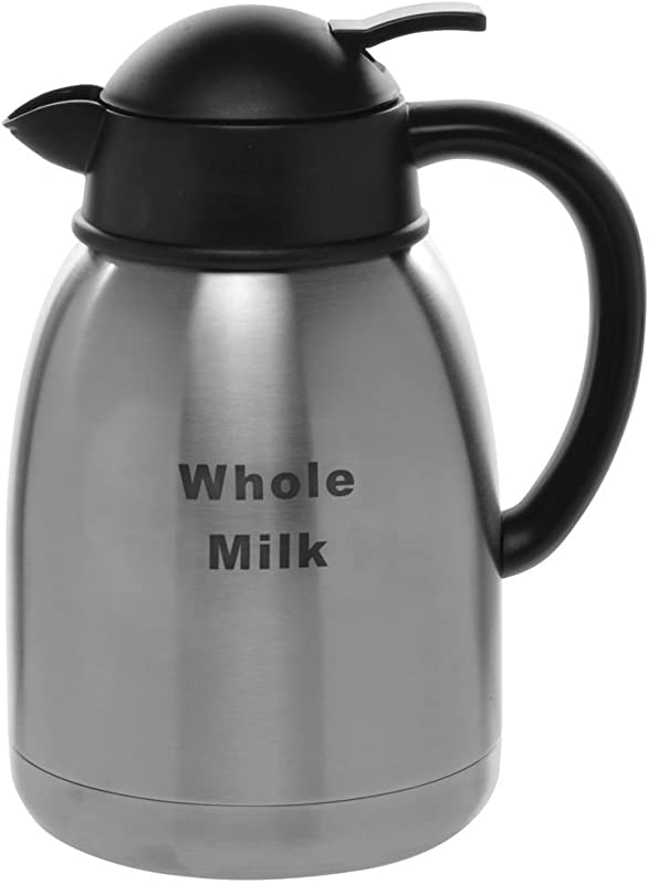 HUBERT Creamer Carafe With Whole Milk Imprint 1 5 Liter
