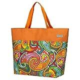 Anndora XXL Shopper - Bolsa de playa, para la compra, de hombro, Color naranja. (Naranja) - TW-8220-251