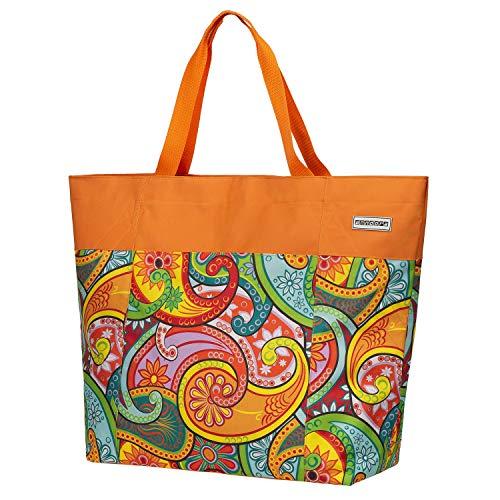 anndora XXL Shopper Paisley - Strandtasche 40 Liter Schultertasche Einkaufstasche