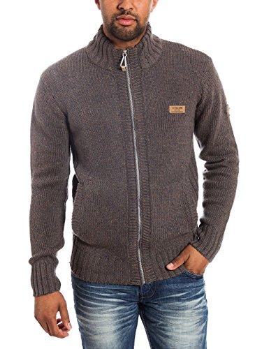 Timezone Herren Jacke Knit jacket 28-6020, Gr. Medium, Grau (grey naps melange 9136)