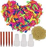Sinwind Globos de Agua, 1000pcs Water Balloons de Colores, Bomba de Agua Verano Splash y Fun Pelea de Agua Juego para niños y Adultos