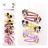 YUESEN Horquilla Mickey 8PCS Accesorios para el Pelo Niña Adornos Mickey Minnie Accesorios de Disfraces para el Cabello Regalos Originales para Niñas para Vestir a niñas pequeñas