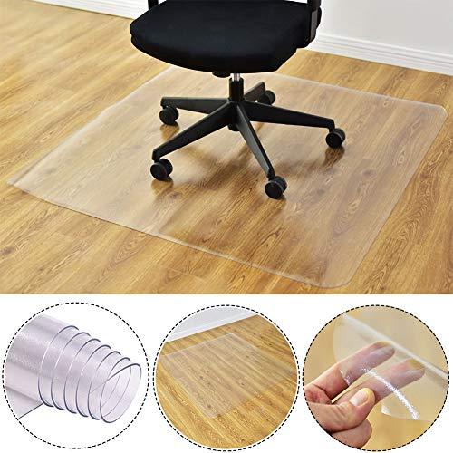 Alfombra protectora de suelos para silla de oficina, rectangular, transparente, antideslizante, para el hogar, moqueta, oficina, Transparente, 50x90cm