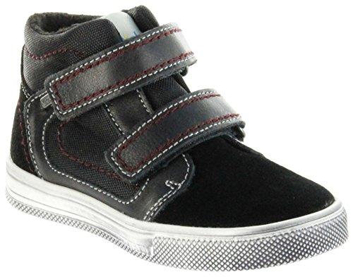Richter Kinder Halbschuhe Sneaker schwarz Warm Leder Sympatex Jungen Schuhe 6534-241-9901 Black Ola, Farbe:schwarz, Größe:26 EU