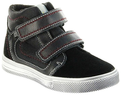 Richter Kinder Halbschuhe Sneaker schwarz Warm Leder Sympatex Jungen Schuhe 6534-241-9901 Black Ola, Farbe:schwarz, Größe:32 EU