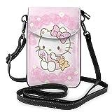 Hello-Kitty Monedero para teléfono Bolsos Cruzados para Mujer Bolsos livianos Monedero para Mujer Funda de Cuero para teléfono móvil Estuche para Billetera Bolsos de hombro-4MO