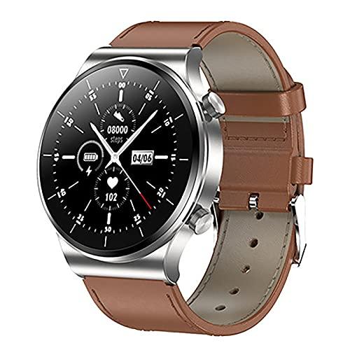 ZGZYL TM01 Smart Watch Llamada Bluetooth, Rastreador De Fitness con Oxígeno De Sangre Y Monitor De Ritmo Cardíaco IP68 Reloj Deportivo A Prueba De Agua para iOS Android Smart Watch,D