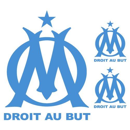 Sticker Om n°2 Logo x3 Bleu Clair 56x50 cm