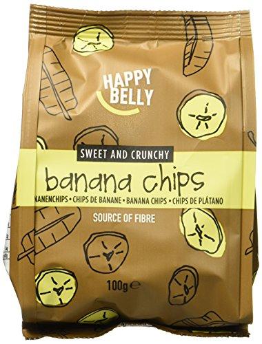 Marque Amazon - Happy Belly Chips de banane, 7x100 g