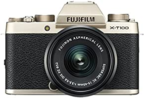 Fujifilm X-T100 24.2 MP Mirrorless Camera with XC 15-45 mm Lens (APS-C Sensor, Electronic Viewfinder, Face/Eye...
