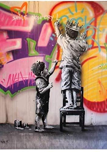 YYTTLL Rompecabezas 1000 Piezas Figura Art Graffiti Mujeres Abstractas Bansky Art Pop Carteles De Madera para Adultos Juegos para Ni?os Juguetes Educativos