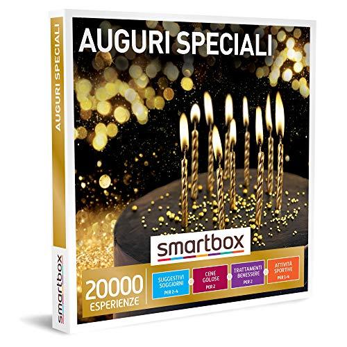 Smartbox - Auguri Speciali - Cofanetto Regalo per Uomo o Donna, Un Soggiorno o Una Cena o Una Pausa Benessere o Sportiva da 1 a 4 Persone, Idee Regalo Originale