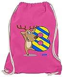 Hariz - Bolsa de deporte con diseño de renos divertidos y texto en alemán, rosa (Rosa) - AchterGeburtstag36-WM110-18-1