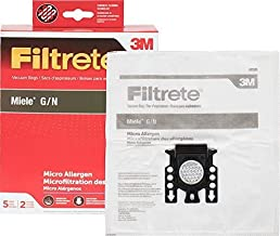 3M Filtrete Miele G/N Synthetic Vacuum Bag (10 Bags + 4 Filters)
