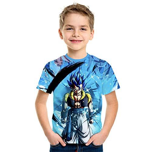 Bambino Dragon Ball Maniche Corte?Super Broly Maglietta Maglia con Stampa 3D Estate Tees Camicetta Casuale T-Shirt Tops Blusa Camicia Maglietta da Ragazzo Uomo (NT-216,130)