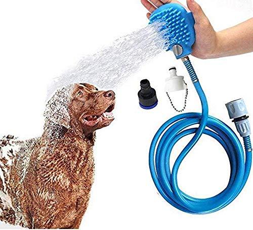 HUIKANGSHENG - Herramienta de baño para Perros, rociador de Ducha y Cepillo de baño 2 en 1, Accesorio actualizado para bañera y Manguera de jardín al Aire Libre, Manguera de Ducha para Perro