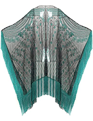 ArtiDeco Jaren 20 Retro sjaal dames omslagdoeken stola voor avondjurk bruiloft party bruid sjaal Gatsby kostuum accessoires