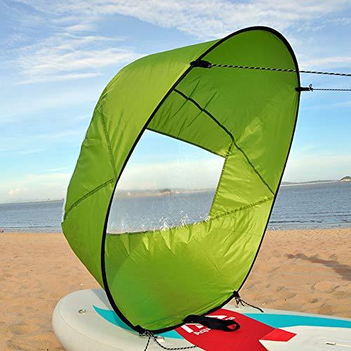 HXSD Kit de Vela de Kayak Plegable de 42 Pulgadas, Barco de Kayak emergente, Vela de Viento, Paleta de Viento de Surf de Verano, Vela de Kayak, Ventana de Viento Duradera,Verde