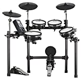 HXW Drums SD201-C Mesh Electronic Drum Set 8 Piece Electric Drum Kit All Dual-zone Pads and Cymbals With Choke, Support USB-MIDI