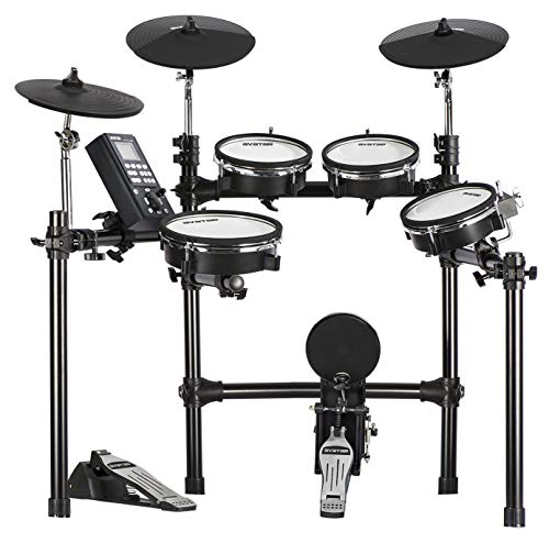 HXW Drums SD201-C Mesh Electronic Drum Set 8 Piece...