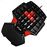 Delux T9 46-Key Singlehanded Wired Gaming Keyboard Professional Ergonomic Gameboard