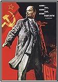 Refosian Vintage Stalin der Sowjetunion Alte Plakate Kunst