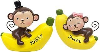 Best INEBIZ Creative Cute Monkeys Love Dashboard Decorations Car Home Office Ornaments Review