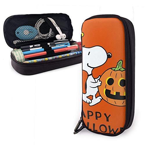Federmäppchen Happy Halloween Big Capacity Bleistiftbeutel Makeup Pen Pouch Briefpapier mit Doppelreißverschluss Stifthalter für Schule/Büro