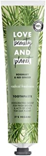 Love Beauty and Planet Radical Freshness Rosemary and Red Ginger Toothpaste, 75 ml