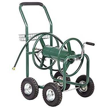 BestMassage Garden Water Hose Reel Cart Garden Cart with Heavy Duty 300FT Hose Yard Water Planting