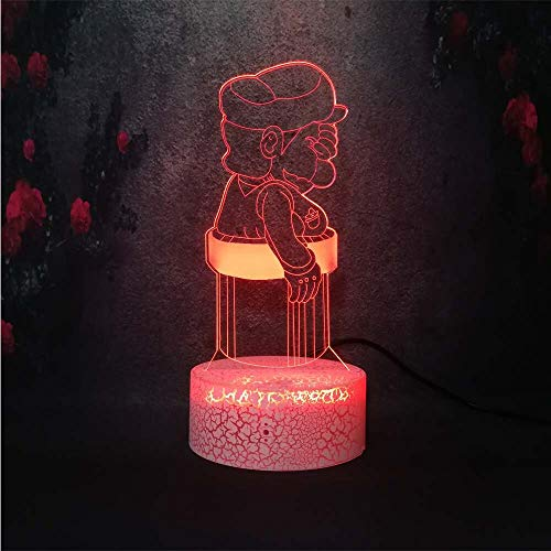 3D Tischlampe Kinder Spielzeug Geschenk Kreative Schlafzimmer Riss Schreibtisch Nacht Bruder Bruder...
