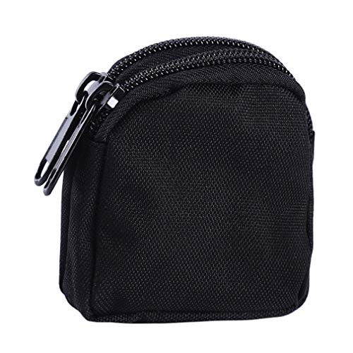 Cheapest Prices! Iumer Coin Purse Nylon Double Layer Zipper Waterproof Multifunctional Military Key ...