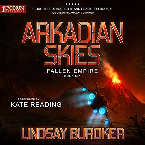 Arkadian Skies audiobook cover art