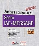 Annales corrigées du Score IAE-Message 2015