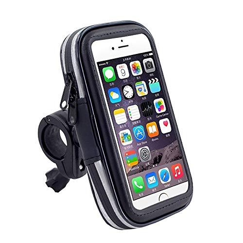 DFV mobile - Soporte Profesional Reflectante para Manillar de Bicicleta y Moto Impermeable Giratorio 360 para Samsung Galaxy A71 (2020) - Negra