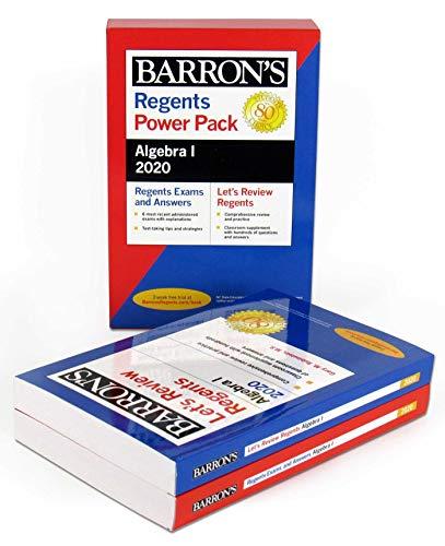top 10 algebra books Regents Algebra I Power Pack 2020(Barrons Regents NY)