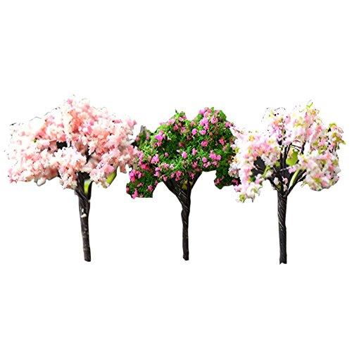 Gosear 5 Piezas Estilo de árbol la Flor Miniatura Macetero de Casa...