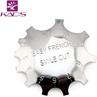 KADS 11 Sizes French Smile Line Cutter French Acrylic Gel Cutter Pink & White Cutter Nail Edge Cutter Manicure Edge Trimmer French Smile Line Tool