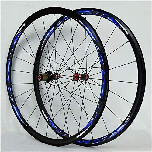Ruedas De Bicicleta,llantas bicicleta Rueda trasera bicicleta Ruedas 700C delantero /, 24H doble pared de aleación ligera llantas V de liberación del freno de bicicletas de ruedas de 30 mm Rápida velo