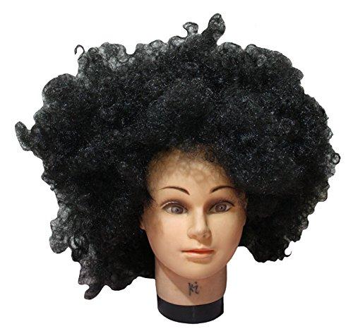Petitebelle Halloween Costume Noir Big Perruque afro Cheveux pour Unisexe Taille gratuit - Noir - Taille Unique