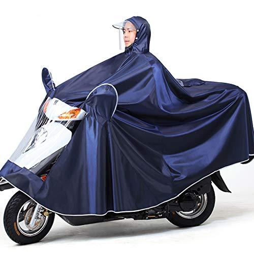 Electric Mobility Scooter Motorfiets Grote Rain Cape Coat, Om Te Fietsen, Hardlopen, Unisex - Hooded Compact Rain Cape,Navy,4XL
