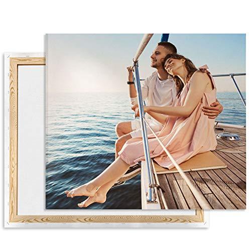 Leinwand bild mit foto selbst gestalten 20 x 30, eignes Foto auf Leinwand drucken Lassen, Fotogeschenk, Wandbild mit Wunschmotiv personalisiert Hochformat [128]