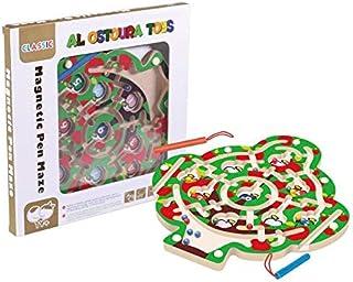 Al Ostoura Toys Magnetic Pen Maze Educational Wooden Toy