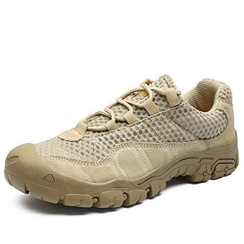 Cushioning,Breathable,Lightweight,Calzado Deportivo para Hombres y Mujeres,Botas tácticas Zapatos de Senderismo Zapatos de Exterior de Gran tamaño Transpirables Bajos-Khaki_41#