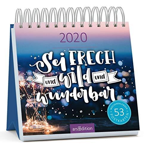 Postkartenkalender 2020 Sei frech & wild & wunderbar