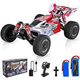 Remote Control Car, Wltoys 144001 RC Car with 2 Batteries, 1:14 Scale 60 Kmh High Speed RC Car, 4WD 2.4GHz Off Road Trucks Toys, Racing Off-Road Drift RC Car for Adults & Kids Gifts