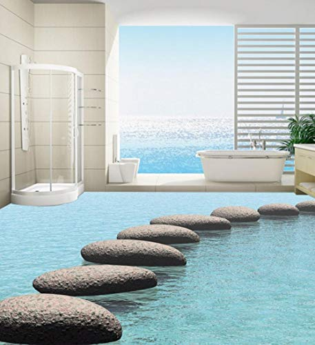 [Zelfklevend] 3D-route pleister op de watervloer, wandbehang 300cm(L)x210cm(W)