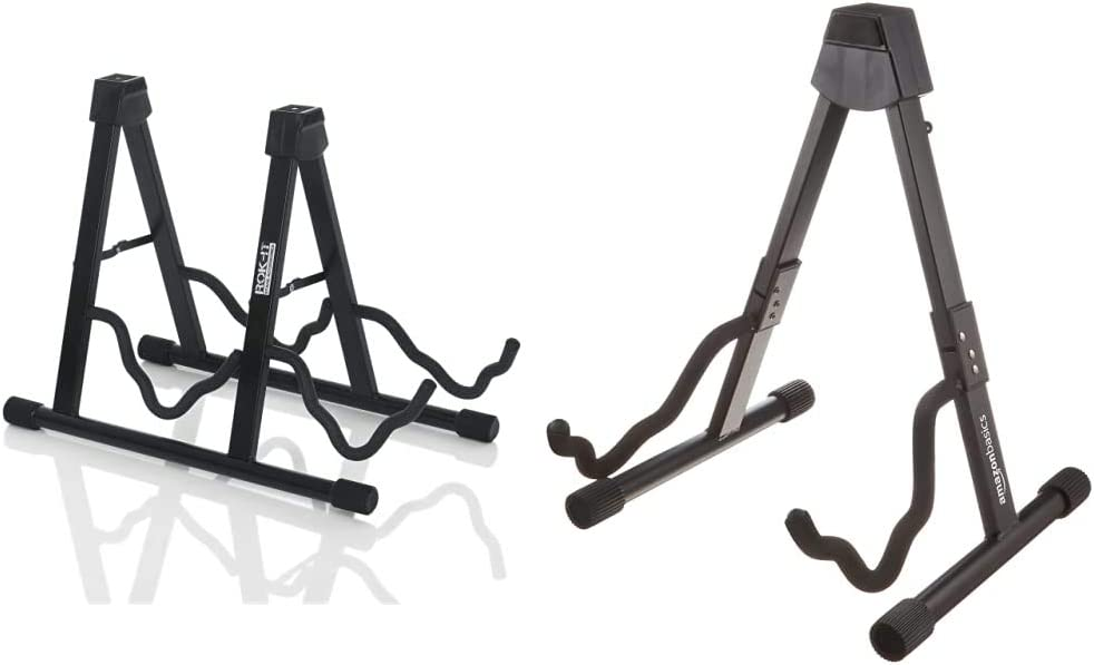 Rok 激安通販 It A-Frame Double Guitar Stand; Holds Electric Most Standard 本日の目玉