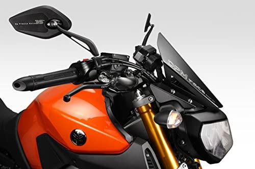 MT 09 FZ09 2017/20 - Kit Windscreen 'Gullwing' (R-0790B) - Aluminum Windshield Fairing - Hardware Fasteners Included - De Pretto Moto Accessories (DPM Race) - 100% Made in Italy