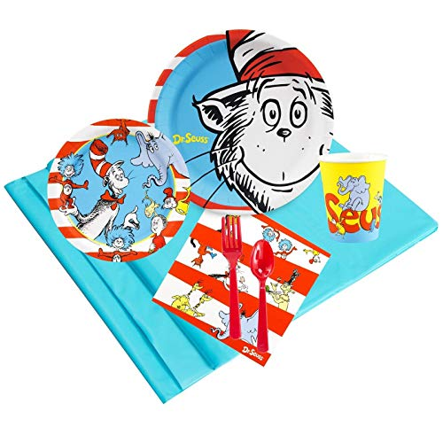 BirthdayExpress Dr Seuss Party Supplies - Party Pack Bundle for 16